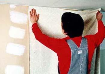 壁紙の施工
