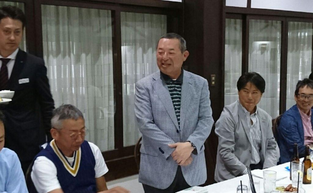 前田会長挨拶の模様